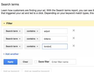 filtering-adwords