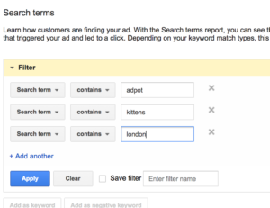 filtering-adwords