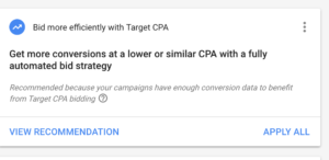 recommendation-target-CPA